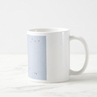 Many mosquitoes on a wall coffee mug