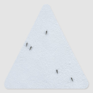 Many mosquitoes on a wall triangle sticker