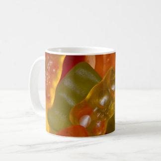 Many multicolored jelly babies... coffee mug