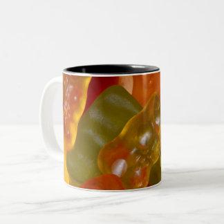 Many multicolored jelly babies... Two-Tone coffee mug