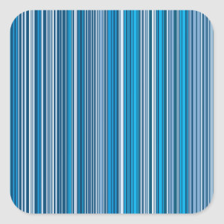 Many multicolored strips in the blue sample square sticker