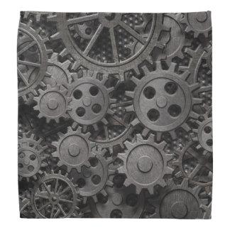 Many old rusty metal gears or machine parts bandana