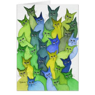 Many Oregon Whimsical Cats Card