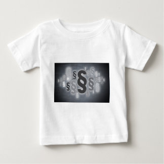 Many paragraphs in front of concrete wall concept baby T-Shirt
