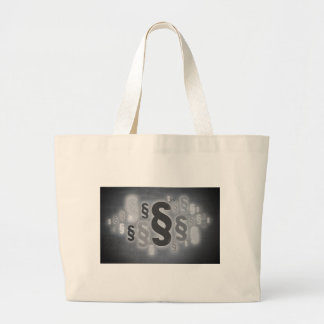 Many paragraphs in front of concrete wall concept large tote bag