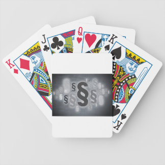 Many paragraphs in front of concrete wall concept poker deck