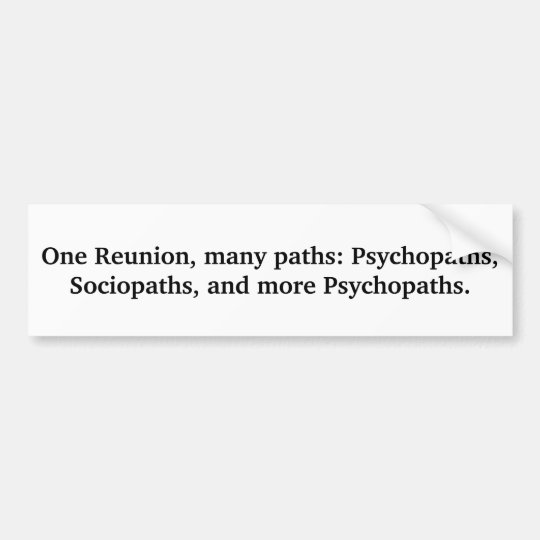 Many Paths Funny Family Humour Bumper Sticker