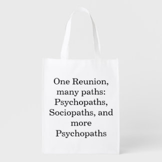 Many Paths Funny Family Reunion Reusable Bag Grocery Bag