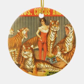 Many Pet Tigers Ceramic Ornament