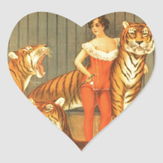 Many Pet Tigers Heart Sticker