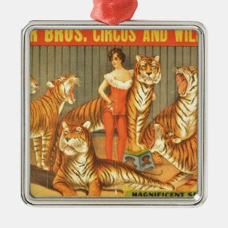 Many Pet Tigers Metal Ornament