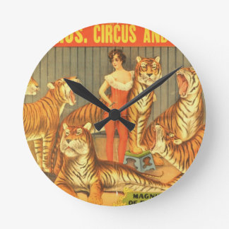 Many Pet Tigers Round Clock