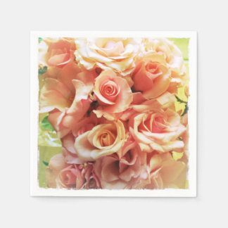 Many pink roses disposable napkin