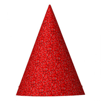 Many Red Hearts Valentine Love Heart Pattern Party Hat