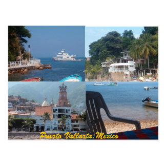 many scenes from Puerto Vallarta postcard