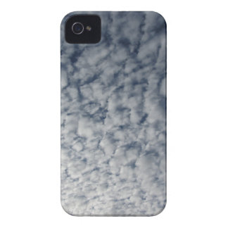 Many soft clouds against blue sky background iPhone 4 Case-Mate cases