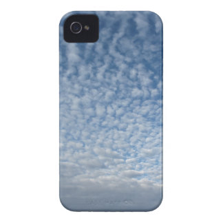 Many soft clouds against blue sky background iPhone 4 cover