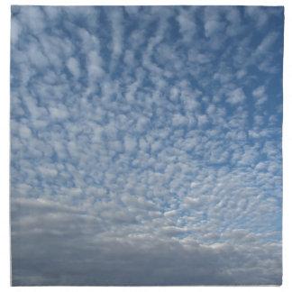 Many soft clouds against blue sky background napkin