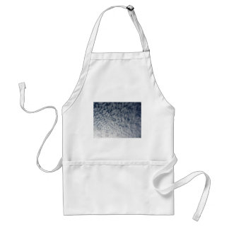 Many soft clouds against blue sky background standard apron