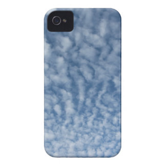 Many soft little clouds against sky background iPhone 4 Case-Mate cases