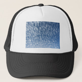 Many soft little clouds against sky background trucker hat