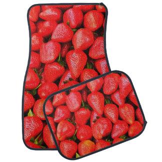 Many Strawberries! Car Mat