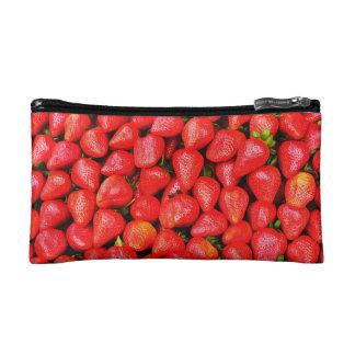 Many Strawberries! Cosmetic Bag