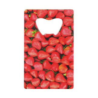 Many Strawberries! Credit Card Bottle Opener