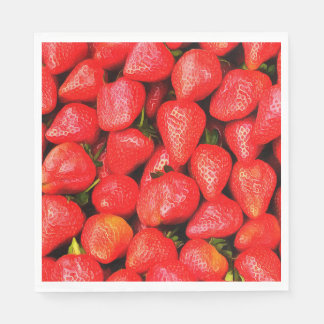 Many Strawberries! Disposable Napkin