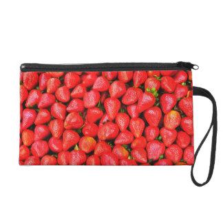 Many Strawberries! Wristlet