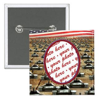 Many Tanks Photo Frame Pinback Button