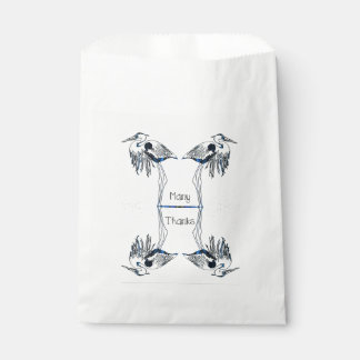 Many Thanks Herons Favour Bag