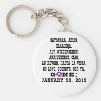 Many Ways To Say Goodbye To President Obama Basic Round Button Keychain