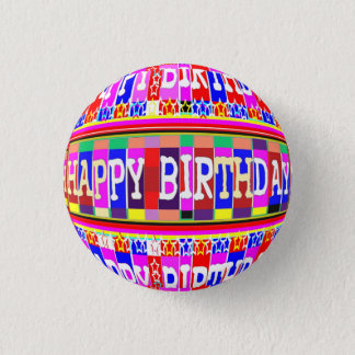 MANY ways to say HAPPY Birthday 1 Inch Round Button