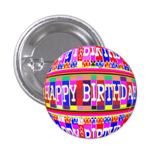 MANY ways to say HAPPY Birthday 1 Inch Round Button