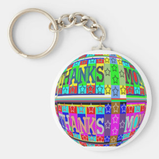 MANY ways to say THANKS MOM: by Naveen Basic Round Button Keychain