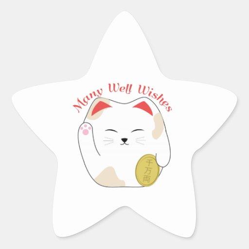 Many Well Wishes Star Sticker