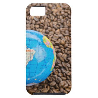 Many whole coffee beans with South America globe Case For The iPhone 5