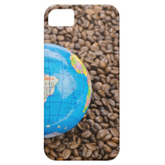Many whole coffee beans with South America globe iPhone 5 Cover