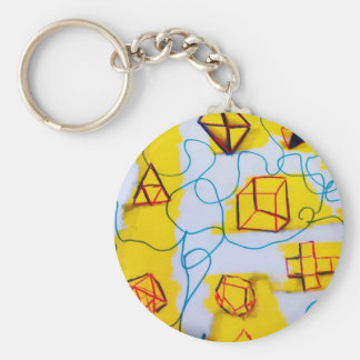 Many Worlds of Form Basic Round Button Keychain