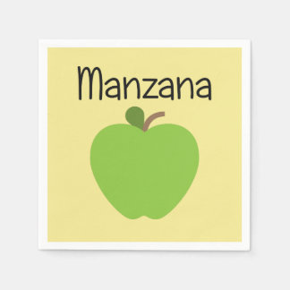 Manzana (Apple) Green Disposable Napkin