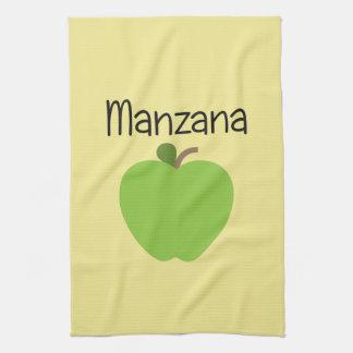 Manzana (Apple) Green Kitchen Towel