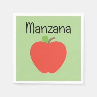 Manzana (Apple) Green Paper Napkins