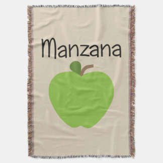 Manzana (Apple) Green Throw Blanket