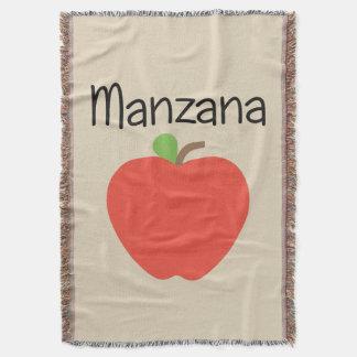 Manzana (Apple) Red Throw Blanket