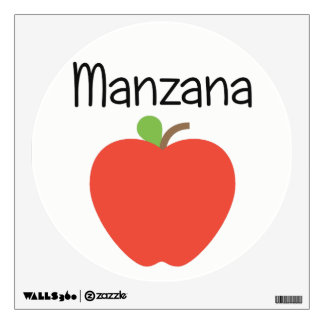 Manzana (Apple) Red Wall Sticker