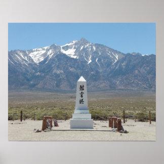 Manzanar War Memorial Poster
