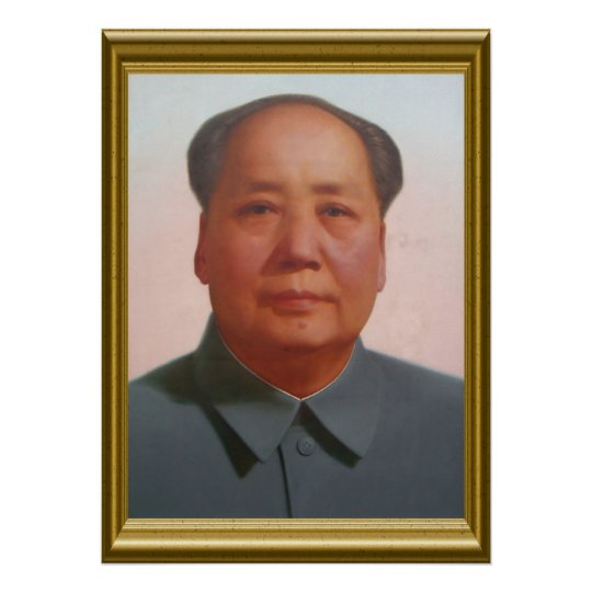 mao portrait poster