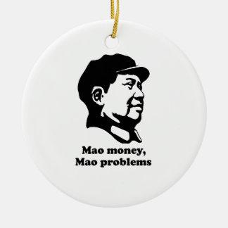Mao Problems Round Ceramic Ornament