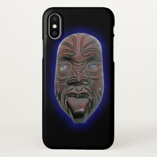 Maori Carved Mask iPhone X Case